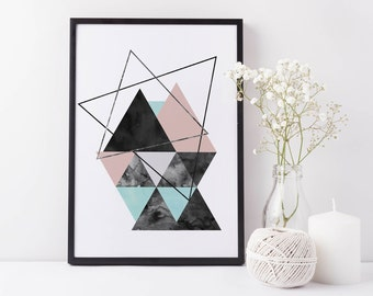 Geometric Print, Abstract Art, Geometric Art, Minimalist Art, Scandinavian Print, Mid Century Modern Print, Abstract Poster, Minimal Print