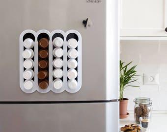 Keurig Storage Dispenser, K Cup Holder, Coffee Pod Organizer, Magnetic Storage Unit, Wall Mount, Home Gift, Modern Design, Plexiglas Décor
