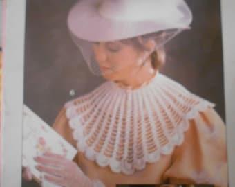 Crocheted Collars, Leisure Arts, Pattern Leaflet #446, 1986
