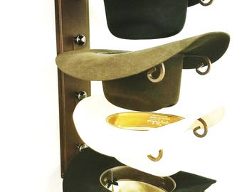 American Made Cowboy Cool Hat Rack Rust