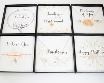 Gift box inserts, Add-on to Custom Chic only (not sold seperately), Bridesmaid gift, Birthday gift, Thinking of you gift, Tie the knot.