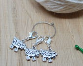 Removable sheep stitch keepers, cute stitch markers, crochet sheep charm, lobster clasp, bag charm, planner charms, sheep gift, crochet gift