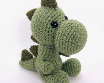 PATTERN: Mr. Dinosaur - Crochet dinosaur pattern - amigurumi dinosaur pattern - crocheted dino pattern - PDF crochet pattern