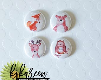 "Badge 1 ""- forest animals"