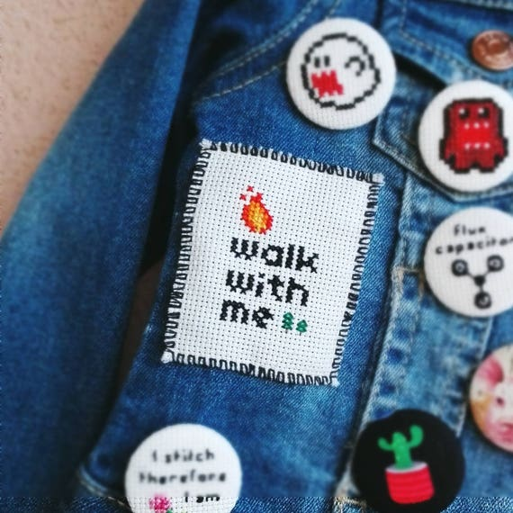 Fire walk with me - Twin Peaks Cross Stitch Patch