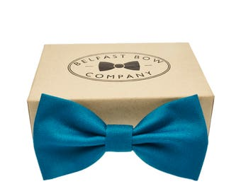 Handmade Bow Tie in Teal - Adult & Junior sizes available