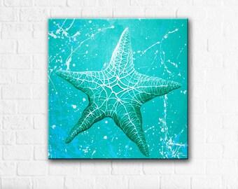 Star Fish in Teal - Original Painting