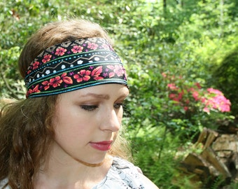 Luau Headband - Hawaiian Headband - Flower Headband - Striped Headband - Sport Headband - Yoga Headband - Workout Headband Spandex Headband