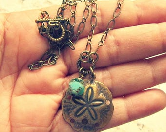 Sand Dollar Necklace, Sanddollar Necklace, Sandollar Necklace, Sand Dollar Jewelry, Sanddollar Jewellery, Salvina's Treasures
