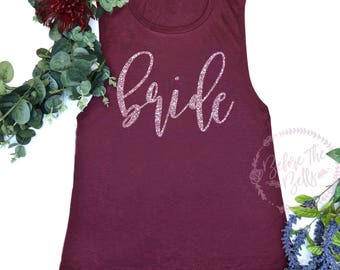 Bride Tank Top. Bridal Muscle Tank. Muscle Tank Top. Bachelorette Party. Wedding Shirt. Wedding Party Tank. Bride Shirt. Bridal Gift.