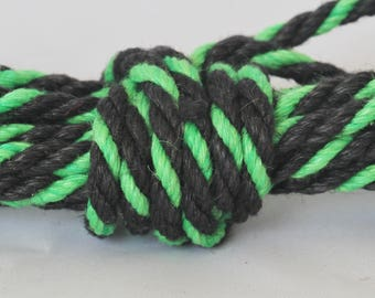 ZOMBIE ROPE! Black & Green Hemp Bondage Rope