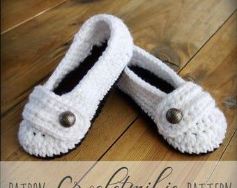 CROCHET PATTERN #007--Cute women slippers