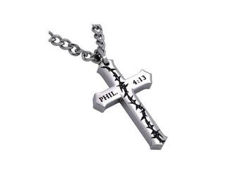 "Crucified Cross ""Christ My Strength"""