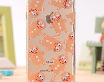 Gingerbread iPhone 7 7s PLUS Cases - Google Eyes iPhone Case - Transparent iPhone 7 Case -  Shop Closing SALE