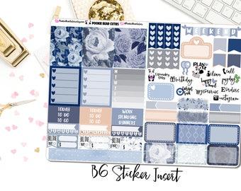 B6 Sticker Insert- Midnight Rose