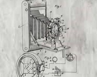 Riszdorfer Photographic camera Patent. Folding camera patent, camera studio art, studio decor, Camera poster art, vintage camera