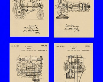 Group of Four Farm Patents #1641803 dated September 6, 1927. Available in various sizes and backgrounds.