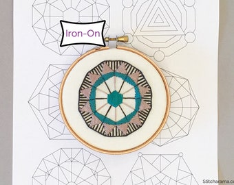 Sacred Geometry Iron On Embroidery Patterns • Spiritual Iron On Embroidery Pattern Transfer