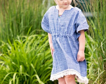 Cordelia's Swimsuit Coverup. PDF sewing patterns for girls sizes 2t-12