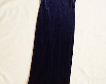 Quintessential 90's Blue Velvet Dress