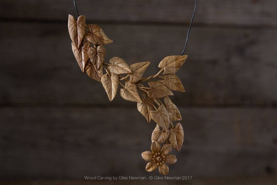 Hand Carved 'Clematis...