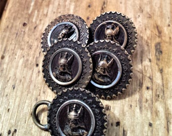 Vintage Set of 5 French Buttons