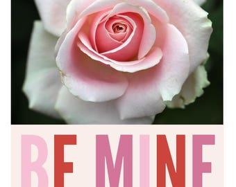 Be Mine Valentine's Day Printable, digital download