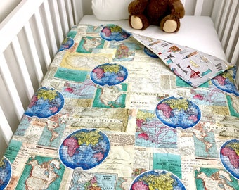 Map bedding etsy for World themed bedding