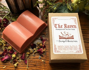 The Raven Bar Soap - Book Gift, Edgar Allan Poe - Handcrafted Bar Soap