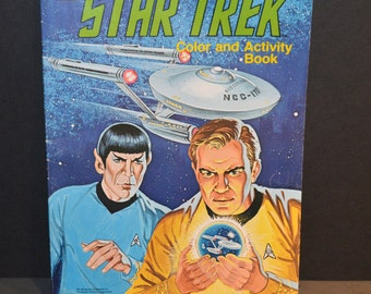 Vintage 1979 Star Trek Color and Activity Book