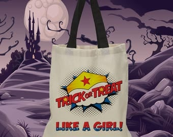 Wonder Woman Inspired Halloween Treat Bag (1168)