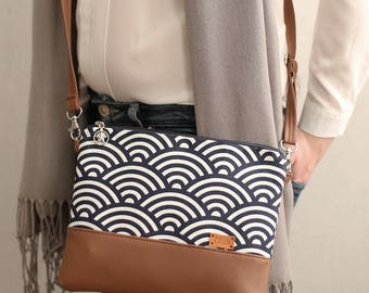 Handbags Gift for her Blue Crossbody bag Purse Cross body bag Shoulder bag Faux Leather purse