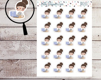 Work Character Planner Stickers for all Planners