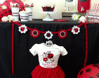 Ladybug birthday outfit - ladybug birthday - first birthday - ladybug birthday shirt - first birthday outfit - ladybug party - ladybug baby