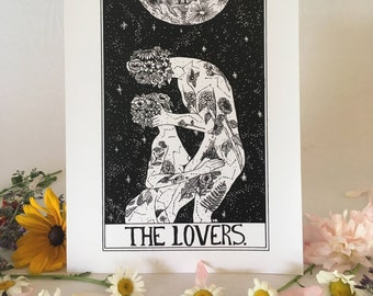 Tarot Card Print • 'The Lovers' • By Madison Ross