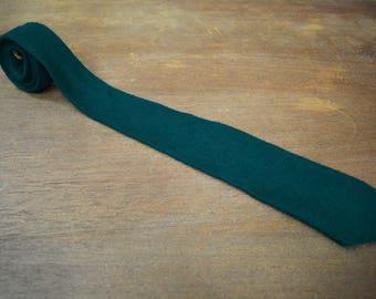 1970s Vintage Wool Men's Tie | Vintage Green Necktie