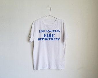 Vintage Los Angeles Fire Department Tee Sz. S/M