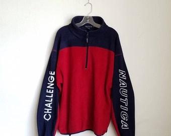 Vintage Nautica Challenge Fleece Pullover Sz. L