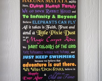 In This House We Do Disney INSTANT DOWNLOAD, 18x36