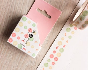 Cute washi tape - 'light colour green plant' #4 | Cute Stationery