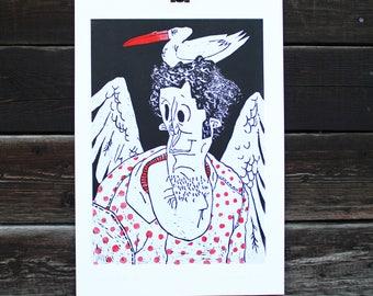 Linocut SIN Sheet 2/ Portrait/ People/ Graphic/ Picture/