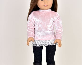 Velvet Turtle Neck Top  18 inch doll clothes