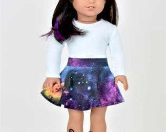 Long Sleeve Cropped top 18 inch doll clothes Color Icy