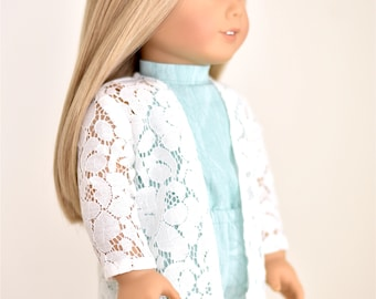 Lace Cardigan High Low Style 18 inch doll clothes