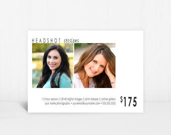 Headshot template etsy headshot photography marketing template instagram facebook photoshop photographer mini photography sessions pronofoot35fo Gallery