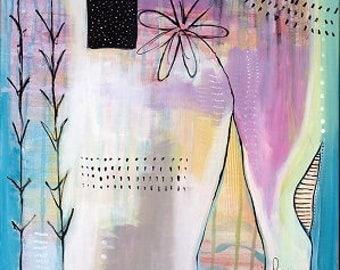 20 x 20inch original  acrylic painting- Summer Haze