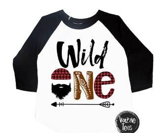 Wild One Birthday Shirt - First Birthday - Lumberjack Shirt - Buffalo Plaid Shirt - ONE Year Old - Birthday Party - Lumberjack Birthday