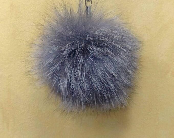 Fox Fur Pom Pom, Bag Pom Pom,Fur keychain F634