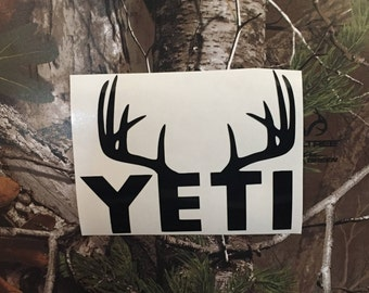 Yeti Deer Decal (Choose From Many Different Colors)