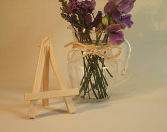 Mini easel to stand small artwork, photos or wedding place cards - handmade.